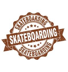 Skateboarding stamp sign seal vector