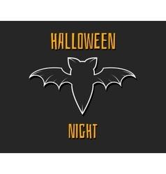 Stylish unique bat Happy Halloween night card vector image