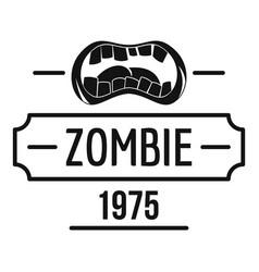 Zombie nightmare logo simple black style vector
