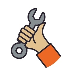 Wrench tool repair construction industrial icon vector