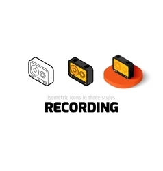 Recording icon in different style vector
