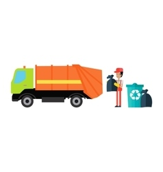 Utilities garbage removal concept vector
