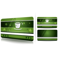 Green business card design vector image