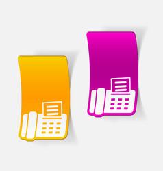 Realistic design element fax vector