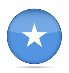 flag of somalia shiny round button vector image