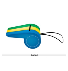 A beautiful whistle of the gabonese republic vector