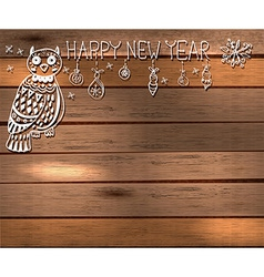 Owl and decorations for beautiful holiday design vector