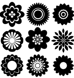 Set of floral templates vector