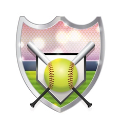 Softball badge emblem vector
