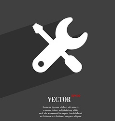 Screwdriver key settings icon symbol flat modern vector