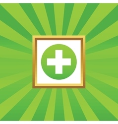Medical sign picture icon 1 vector