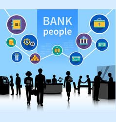 Financial world bank people concept banner vector
