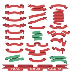 Ribbon banners set vector