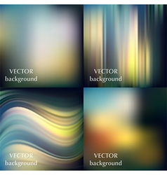 Abstract colorful blurred smooth backgrounds set e vector