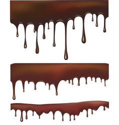 set of chocolate drips vector image
