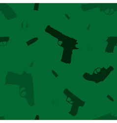 Seamless hand guns vector
