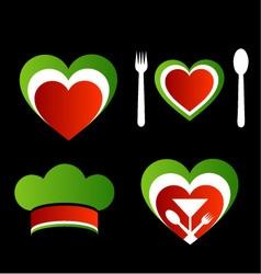 Italian cuisine symbols vector