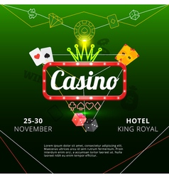 Casino invitation poster vector