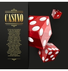 Casino background poker vector
