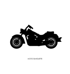 Black silhouette of a heavy motorcycle vector