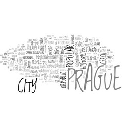 A tourist guide to prague text word cloud concept vector