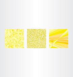 abstract yellow background collection set vector image