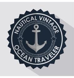 anchor marine retro icon vector image
