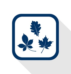 autumn leaves flat icon vector image vector image