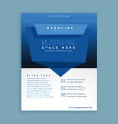 Business flyer brochure poster presentation vector