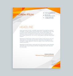 business style letterhead design vector image