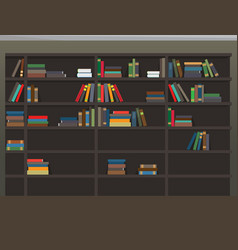 cartoon bookcase background library vector image