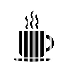 Coffee cup sign vector image