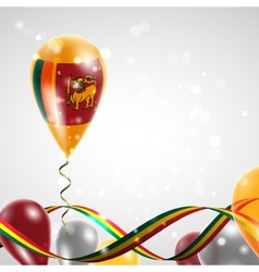 Flag of Sri Lanka on balloon vector image vector image