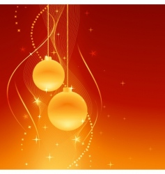 golden baubles on festive background vector image vector image