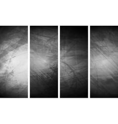 Grey grunge textural banners vector