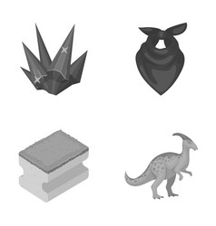 Mine cleanliness and other monochrome icon in vector