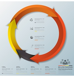 Modern curve arrows business infographic vector