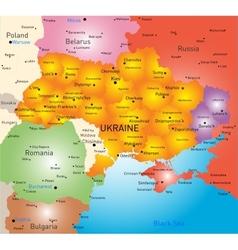 New map Ukraine vector image