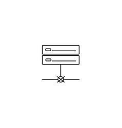 no server connection icon vector image vector image