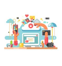 Office documents workflow vector