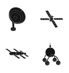 Radio radar docking in space spacecraft lunokhod vector