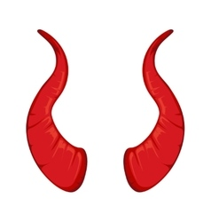 red Devil horns vector image