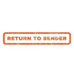 Return to sender rubber stamp vector