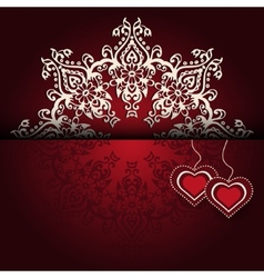 Royal Luxury Valentines Day lace background vector image