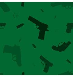 seamless hand guns vector image