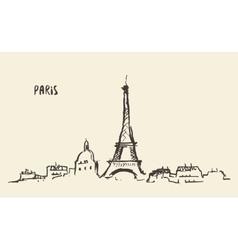 Sketch Eiffel Tower Paris vector image vector image