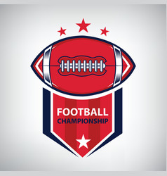 sport american football logo american style vector image vector image