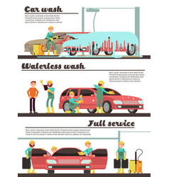 vehicle cleaning service and car washing marketing vector image vector image