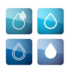 Water Drops Symbols - Icons Set vector image