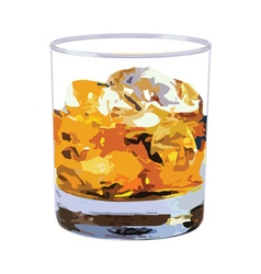 Whisky glass vector